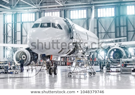 part of plane in airport stock photo © ssuaphoto