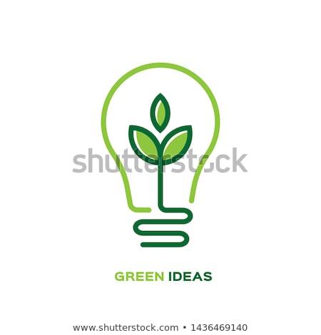 Eco idéia 3D gerado quadro reciclar Foto stock © flipfine