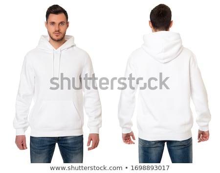 Jonge knappe man geïsoleerd witte gezicht man Stockfoto © Nejron