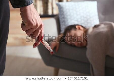 wypadku · ofiara · miejsce · zbrodni · nie · krzyż · policji - zdjęcia stock © blamb
