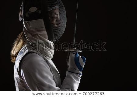Portret kobiet ogrodzenie uniform Zdjęcia stock © bmonteny