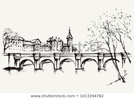 Középkori házak promenád öreg történelmi központ Stock fotó © photosebia