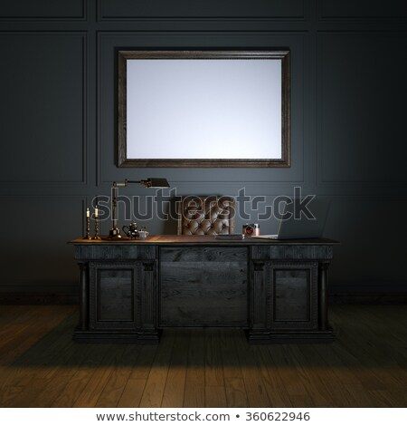 Classic wooden work table with out internet stock photo © nalinratphi