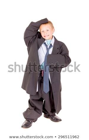 Férfi túlméretezett nadrág test személy emberi Stock fotó © gemenacom