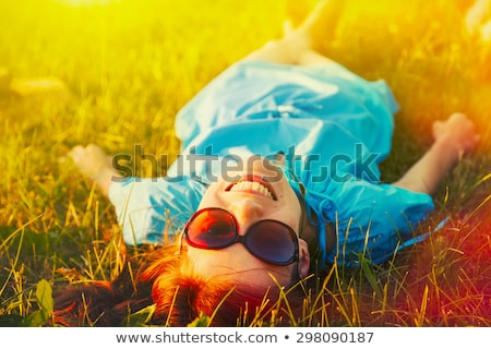 きれいな女性 · リラックス · 屋外 · 肖像 - ストックフォト © Anna_Om