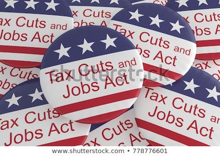 налоговых Cut текста ножницы Сток-фото © devon
