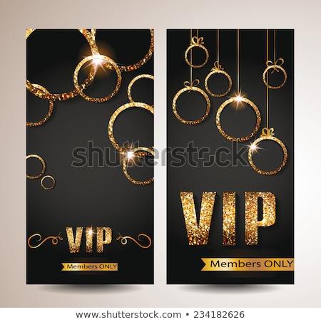 diamond vip greeting card vector illustration stock photo © carodi