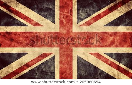 Oude vintage Papierstructuur brits union jack vlag Stockfoto © maximmmmum