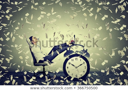Zakenvrouw geld geïsoleerd witte vrouw Stockfoto © fantazista