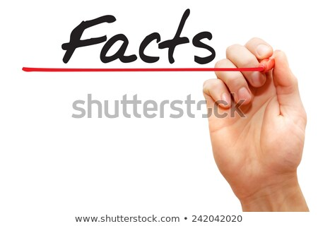 Facts Myths Concept Red Marker Stock photo © ivelin
