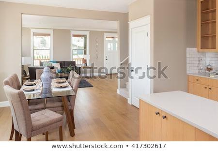 mooie · gewoonte · woonkamer · interieur · nieuwe · huis - stockfoto © feverpitch