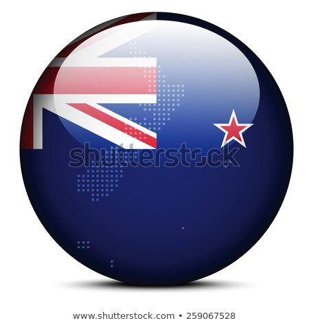 Map with Dot Pattern on flag button of New Zealand Stock photo © Istanbul2009