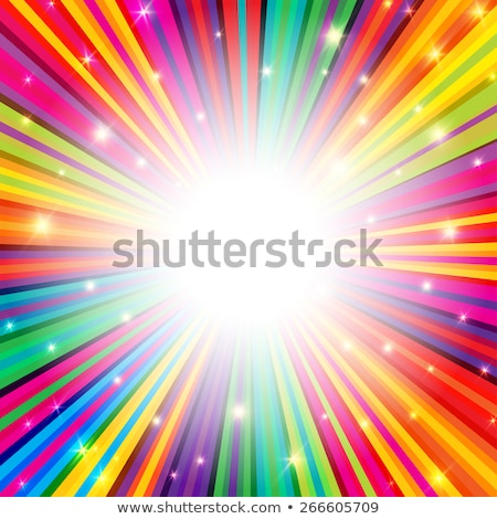 psychedelic colored rays background Stock photo © art9858