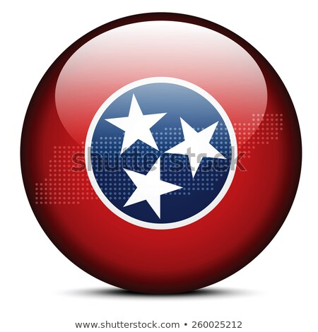 Map with Dot Pattern on flag button of USA Tennessee State Stock photo © Istanbul2009