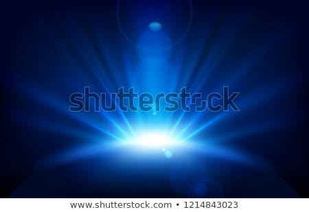 Christmas background with rays in blue Stock photo © marinini