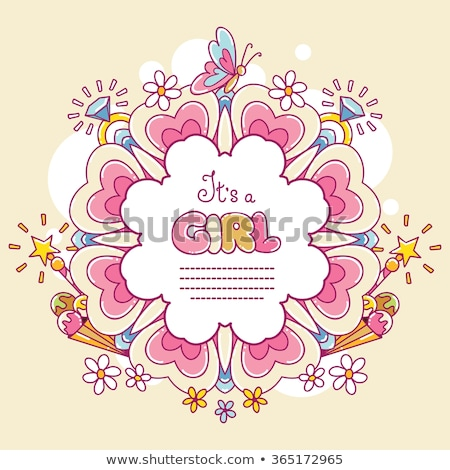 Fleurs papillons illustration fleur papillon Photo stock © yurkina