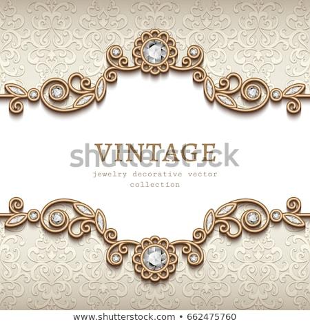 орнамент золото драгоценный камней иллюстрация Сток-фото © yurkina