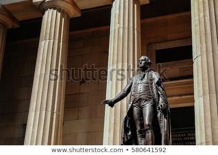Waszyngton posąg federalny sali budynku czarno-białe Zdjęcia stock © rmbarricarte