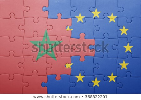 европейский Союза Марокко флагами головоломки изолированный Сток-фото © Istanbul2009