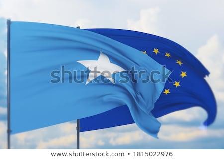 Europejski Unii Somali flagi puzzle odizolowany Zdjęcia stock © Istanbul2009