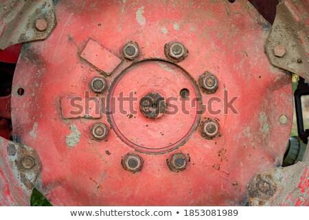 подробность Vintage красный белый трактора Сток-фото © rekemp