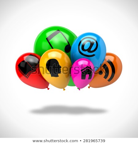 Bunch of Balloons Cloud Computing Concept Stock photo © make