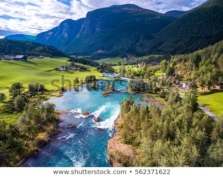 Landscape with mountains. Norwegian fjords Stock photo © master1305