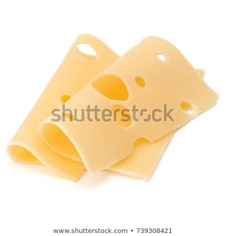 вкусный сыра Ломтики изолированный белый продовольствие Сток-фото © tetkoren