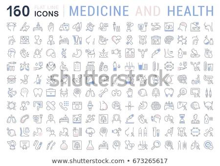 Biochemie icon ontwerp geïsoleerd illustratie lang Stockfoto © WaD