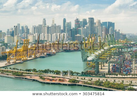 Singapur endüstriyel liman depolama görmek ticari Stok fotoğraf © joyr