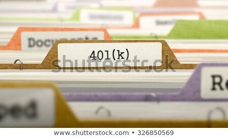 folder in catalog marked as 401k stock photo © tashatuvango