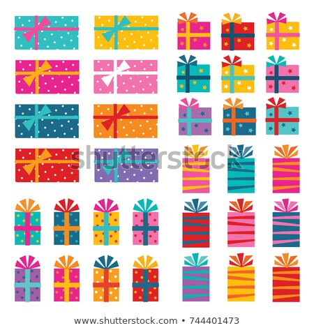 Karácsonyi üdvözlet négy különböző vektor szilárd használt Stock fotó © cajoer
