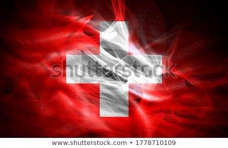 Швейцария стране флаг карта форма текста Сток-фото © tony4urban