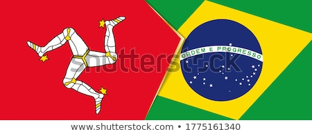 Brazil and Isle of Man Flags Stock photo © Istanbul2009