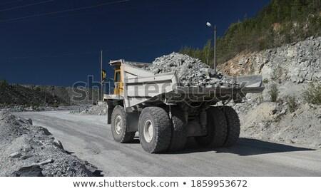 Zdjęcia stock: Przemysłowych · wydobycie · ciężarówka · odizolowany · biały