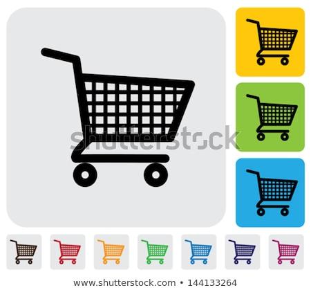 alışveriş · sepeti · düğme · soyut · arka · plan · mavi · satış - stok fotoğraf © rizwanali3d