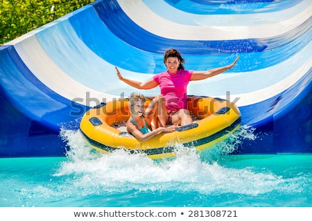 mother and child in aquapark stock photo © paha_l