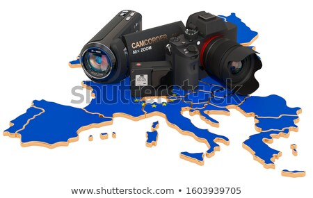 video camcorder on map of europe Stock photo © Paha_L