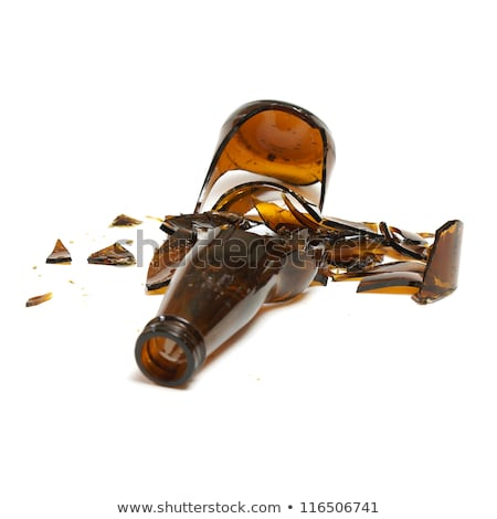 Smashed brown beer bottle Stock photo © digitalr