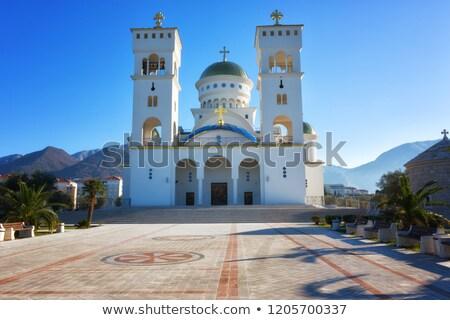 Ortodox templom szent bár Montenegró kereszt Stock fotó © vlad_star