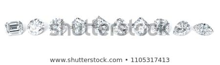 3D isolé diamant luxe bijoux bleu Photo stock © IvanC7