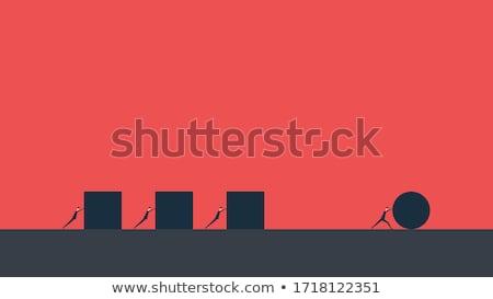 negócio · competição · idéia · desenho · animado · símbolo · dinheiro - foto stock © chatchai5172