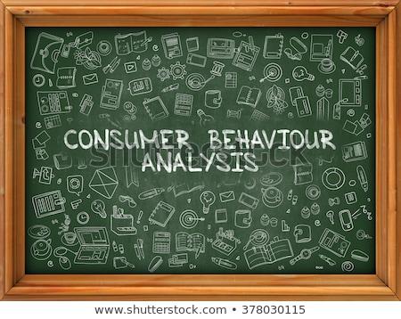 Green Chalkboard with Hand Drawn Developing Business Stock photo © tashatuvango