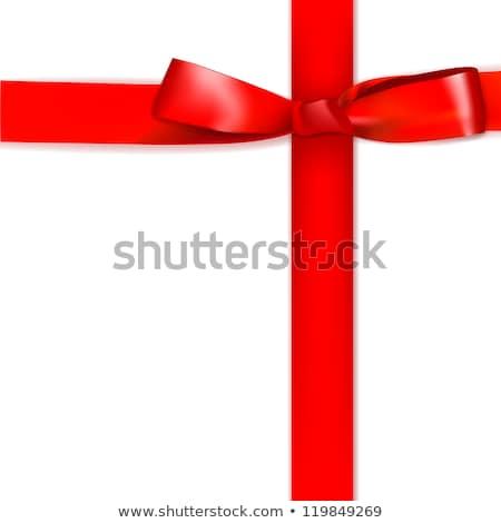Brillante rojo raso cinta eps 10 Foto stock © beholdereye