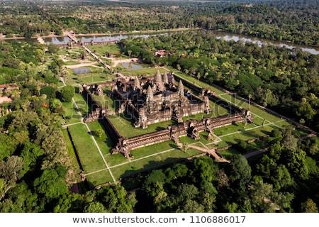 Angkor Wat templo Camboja árvore edifício viajar Foto stock © Mikko