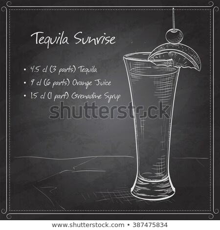 текила Восход реалистичный коктейль стекла Сток-фото © netkov1