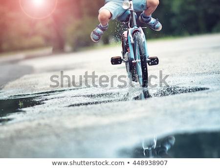 mal · asfalto · carretera · verde · campo · cielo · azul - foto stock © ssuaphoto