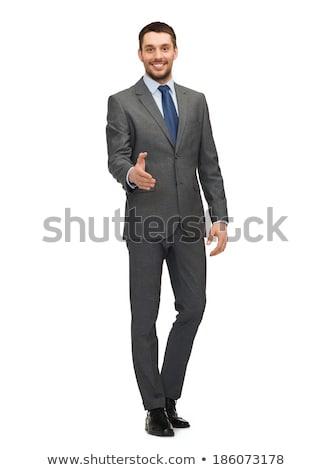 hombre · de · negocios · mano · apretón · de · manos · retrato · positivo · hombre - foto stock © zurijeta