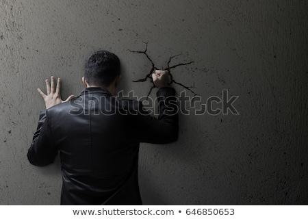 Stock photo: Hitting A wall