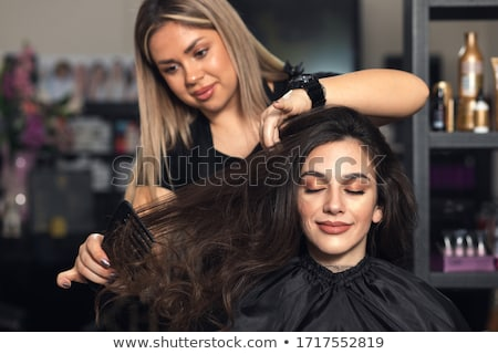 two blond women in a beauty salon stock photo © konradbak